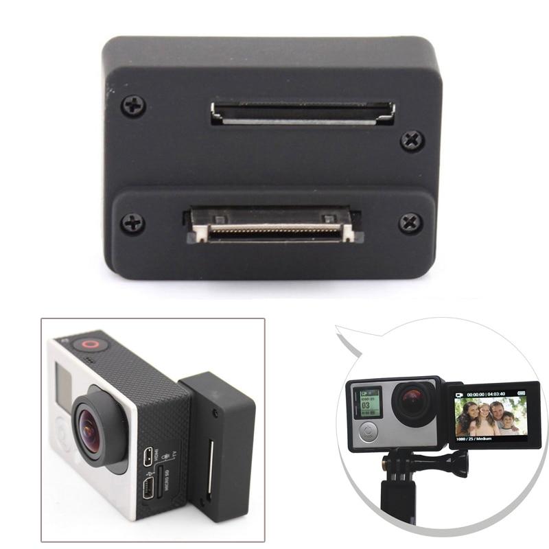 Accesorios para GoPro BacPac adaptador de conector de pantalla para GoPro Hero 4 Hero 3 + 3 Cámara Lcd Monitor Selfie caja de convertidor