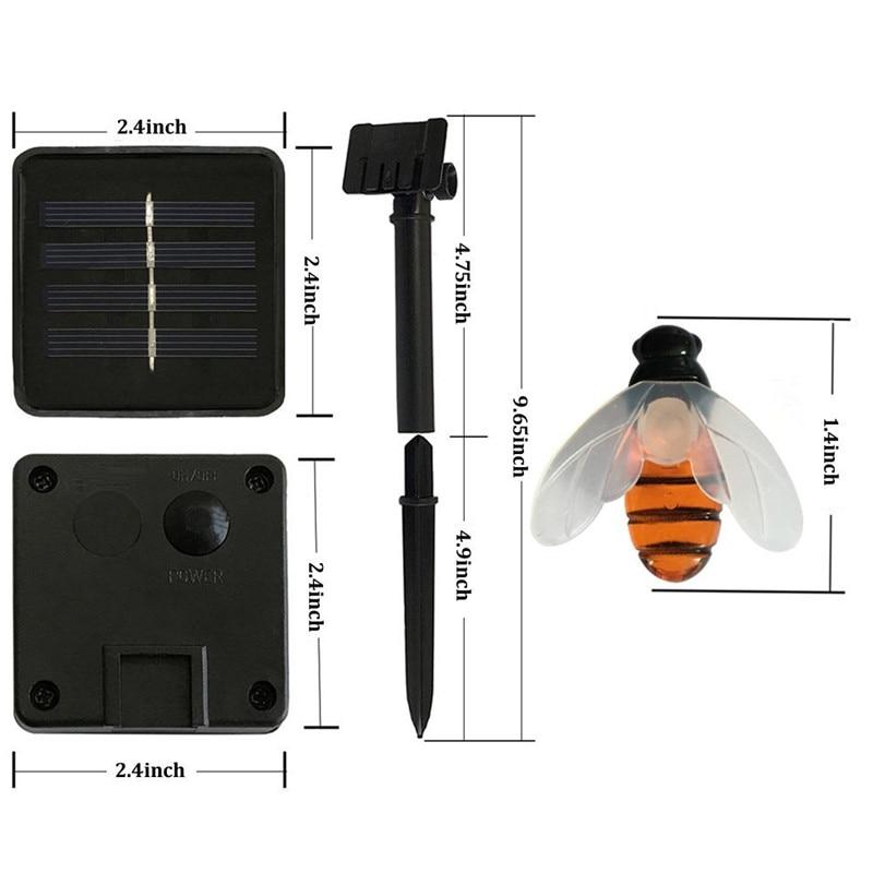 New Solar Powered Cute Honey Bee Led String Fairy Light 20leds 50leds Bee Outdoor Garden Fence Patio Christmas Garland Lights 6