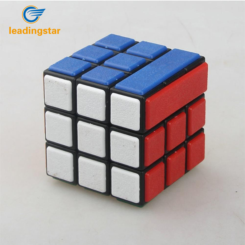 Leadingstar  DIY Bandaged Cube Black Magico Cube With 72Pcs Plastic Color Stickers Brain Teaser Puzzle Cube For Magico Cube