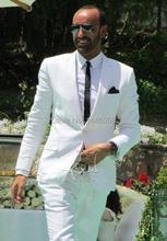Nach Maß Männer Hochzeit Anzug 2017 Neue Design Weiß Anzug Für Hochzeit Smoking Bräutigam Besten Mann Anzüge (jacke + Pants + Tie)