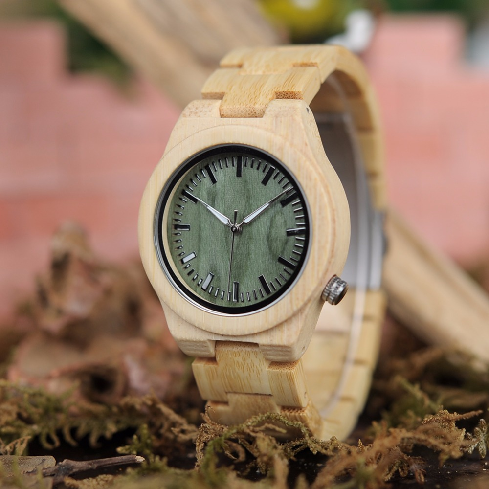 BOBO BIRD Women Watches Miyato Quartz Bamboo Erkek Saat Metal Buckle Casual Female Watch Support Drop Ship