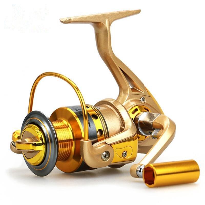 2019 molinete de pesca daiwa carretel pesca ryobi cor dourada 10bb isca enfrentar água salgada carpa alimentador pesca do mar