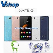 Original OUKITEL C3 Android 6.0 3G WCDMA Smartphone 5.0 inch RAM 1GB ROM 8GB Dual SIM MTK6580 Quad Core 1.3GHz Phone GPS WIFI