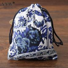 YYW 10PCs/Lot small Cotton hop-pocket Bag for jewelry bracelets necklaces bag handmade gift bags 100x120mm
