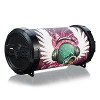 Tuberose Cylinder Przenośny 5 W Potężny Doodle HiFi Głośnik Bluetooth Wireless Audio Grafiki Fajne Stereo Super Bass Muzyka Grać