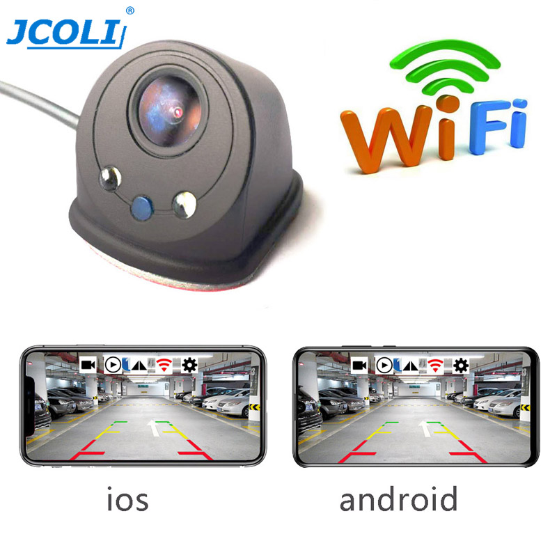 JCOLI HP USB Wireless Wifi Car Left Right Side Blind Zone Rearview Camera for Universal for