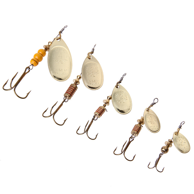 1PC Size1-Size4 Fishing Hook Mepps Spinner Fishing Lures With Knife-edged Treble Hooks Bulk Fishing Tackle Pesca