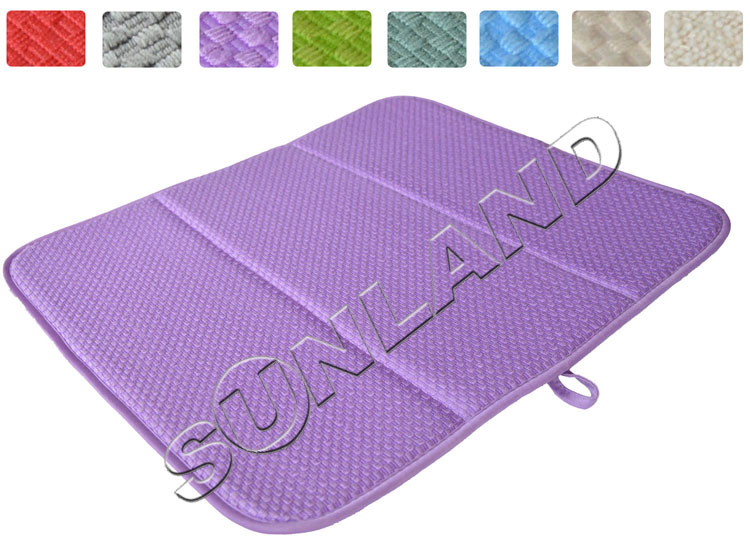 Lovely High Quality 16inch X 18inches Waffle Weave Dish Drying Mat For Kitchen  Microfiber Cushion Pad XL Purple In Mats U0026 Pads From Home U0026 Garden On  Aliexpress.com ...