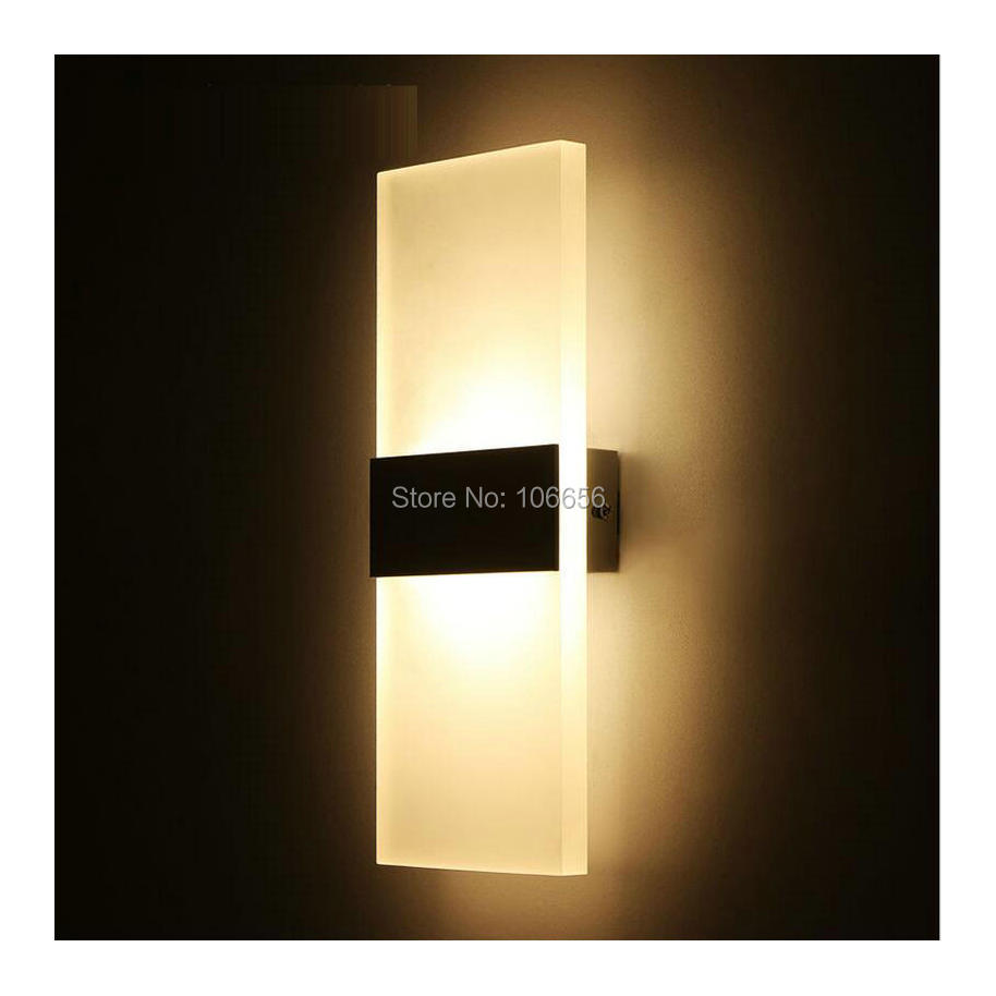 modern decorative bedroom led wall lamp for home lighting bathroom wall sconce light square 6w 270 cheap home lighting