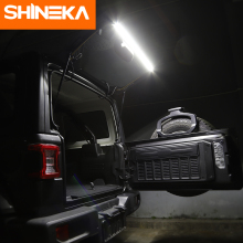 цена на SHINEKA for Jeep Wrangler TJ JK JL 1997-2018 Tailgate Light Trunk Lights Rear Tail Lamps LED Lamp for Jeep Wrangler TJ JK JL
