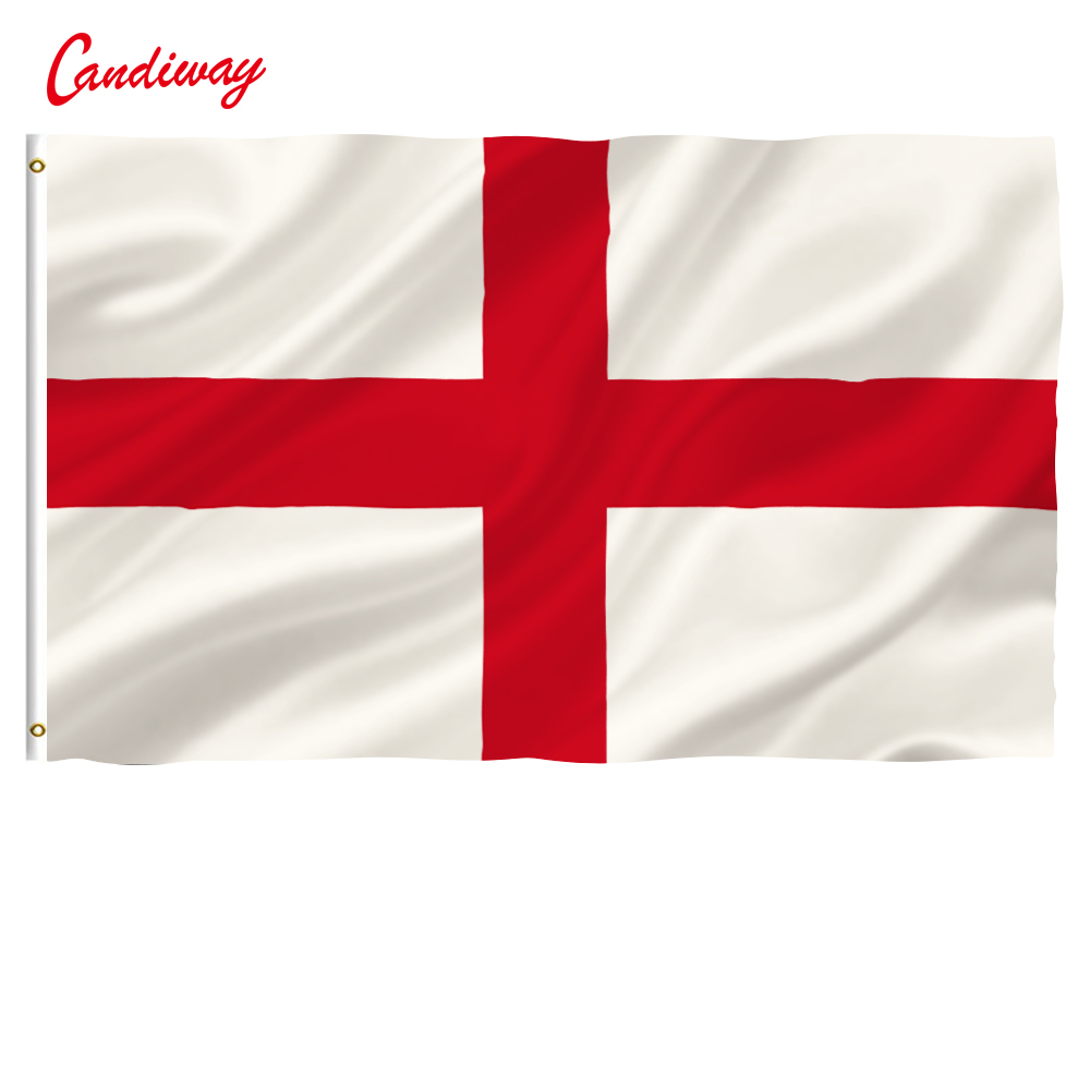 90 x 150cm England St. George's Cross Banner Hanging National flag England St. George's Cross Decoration banner NN065