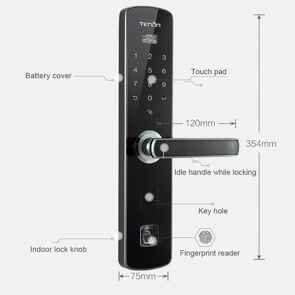 door lock and key black and white. v3 rf sensor intelligent fingerprint code key touch screen digital password anti theft electronic door lock-in electric lock from security \u0026 protection on and black white