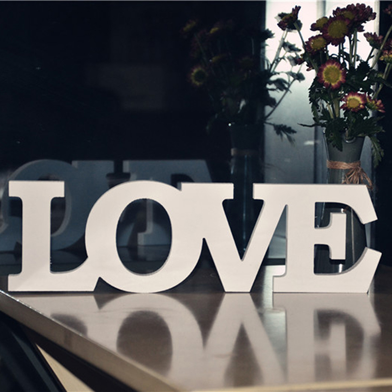 Creative White Pvc Wedding Decorations Love Letter Wooden Similar