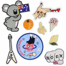 Australian Flag Koala Love Hand Finger Patch Jacket Decor Parches Bordados Iron on Patches for Clothing Patchwork Appliques DIY(China)