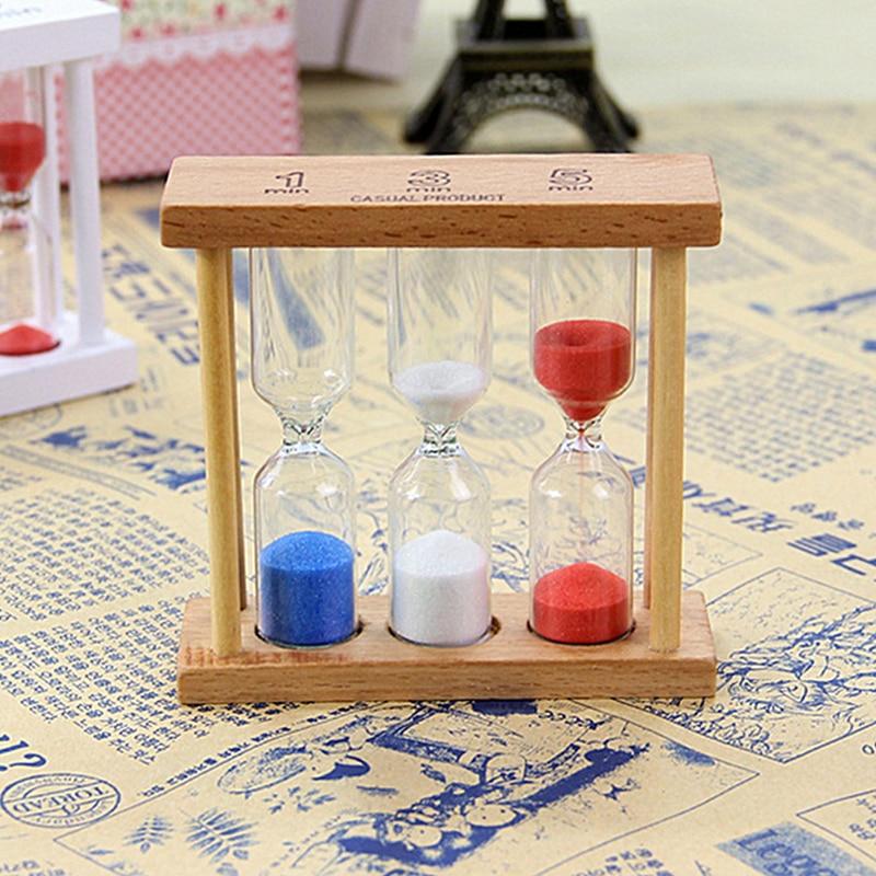 Xmas Birthday Gift 1/3/5 Minutes Wood Frame Sand Glass Hourglass ...