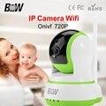BW 720 P CCTV HD Sem Fio Câmera IP WiFi IR-Cut Night Vision Detecção de Movimento Alarme Segurança Vigilância Rotativo câmera