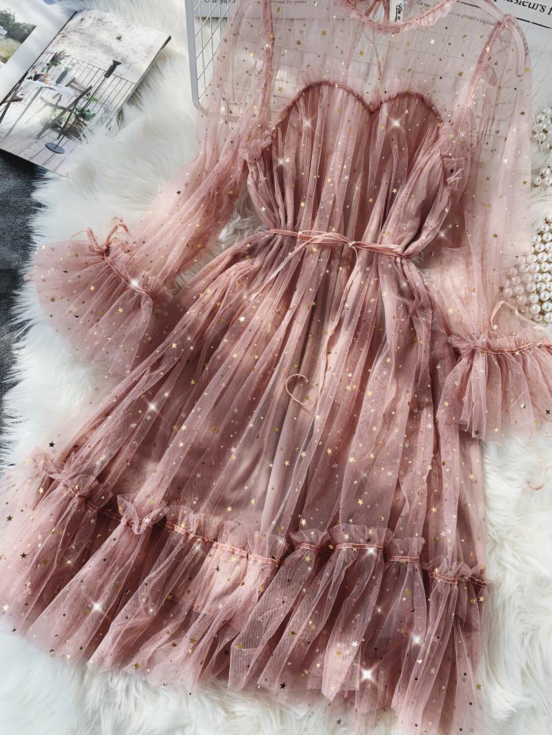 Gauze Two Piece Midi Dress 21