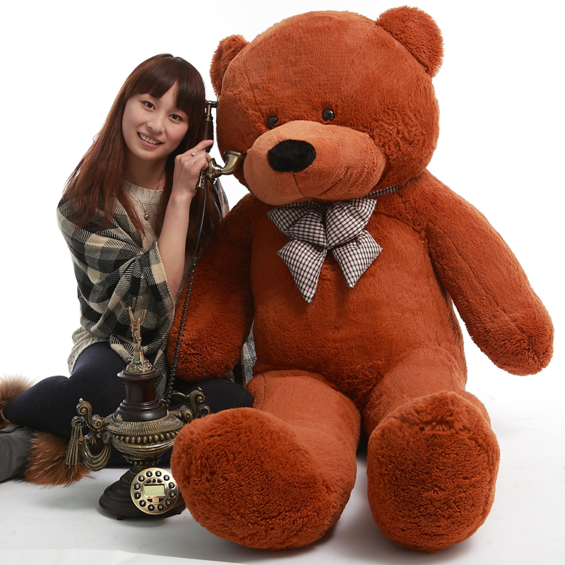 On Sale 1 piece 80cm-120cm Plush toys teddy bear big embrace doll /lovers/christmas gifts birthday gift