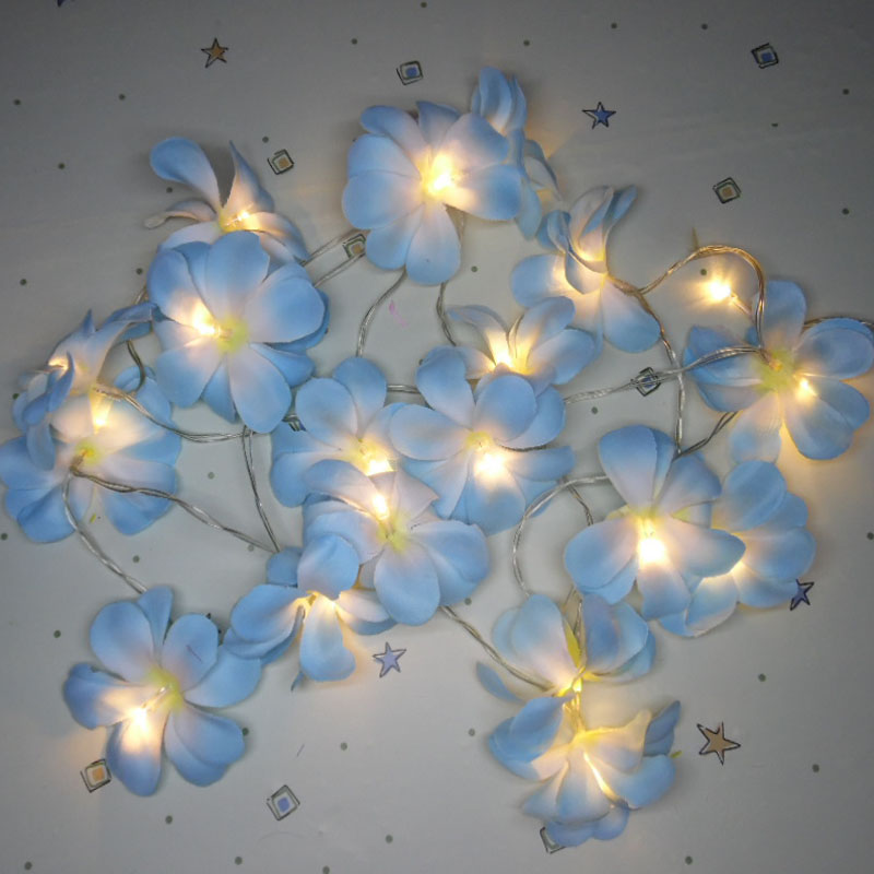 cloth simulation Artificial Plumeria flower Led String ...