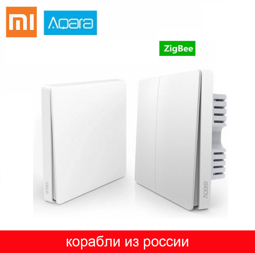 Xiaomi Aqara Wall Switch Smart ZigBee Light Wall Switch Zero Line Fire Wire Remote Control Wireless Key Mi Home Wireless Relay