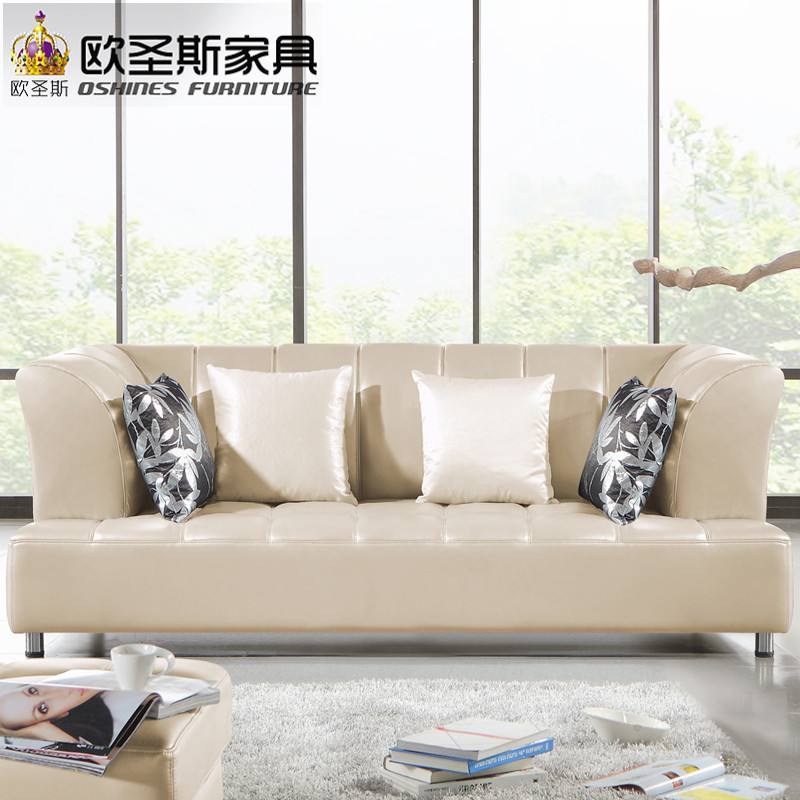 Leather Sofa Set Designs With Price In Chennai: Barcelona Silver Modern Cow Leather Sofa Set Designs And