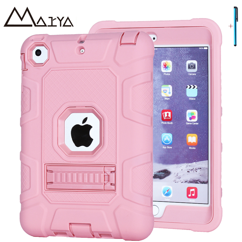 Case for iPad mini 123 Shockproof Heavy Duty Armor Silicone PC Hard Kids Safe Protective Tablet Case Cover For iPad mini Case
