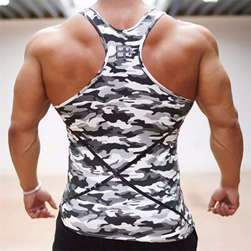 241215198ab25 ... Camouflage Mens Bodybuilding Stringers Tank Tops Singlet Brand Clothing  Fitness Sleeveless Shirt Workout. Sale!   
