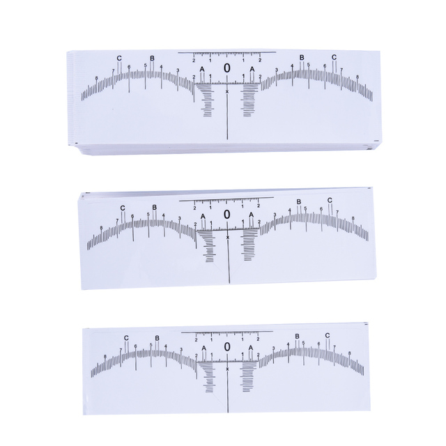 10Pcs Disposable Eyebrows Ruler Stickers Accurate Ruler Permanent Makeup Eyebrow Shaping Tools Tattoo Measurement Rulers Sticker