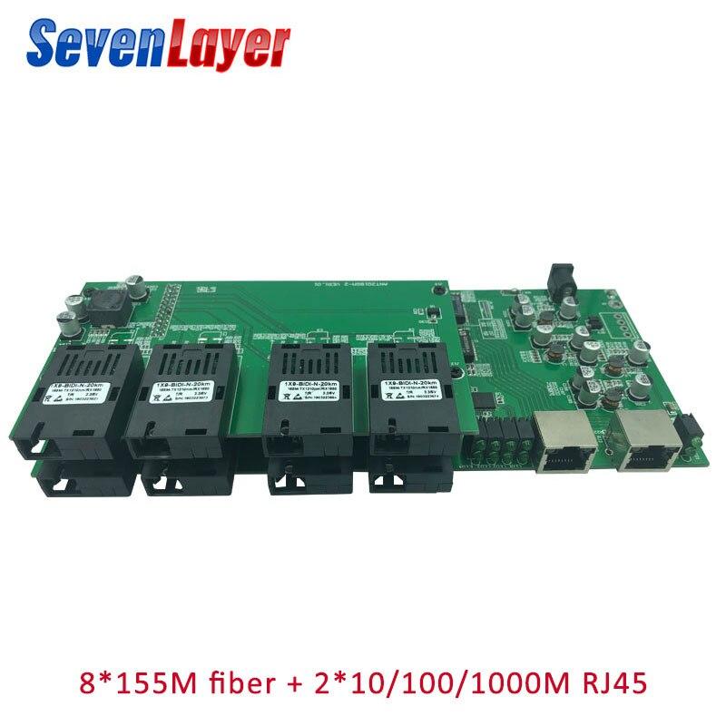 Gigabit Ethernet Switch 8 155M Fiber Port 2 1000M RJ45 UTP Industrial Grade Single Mode Single