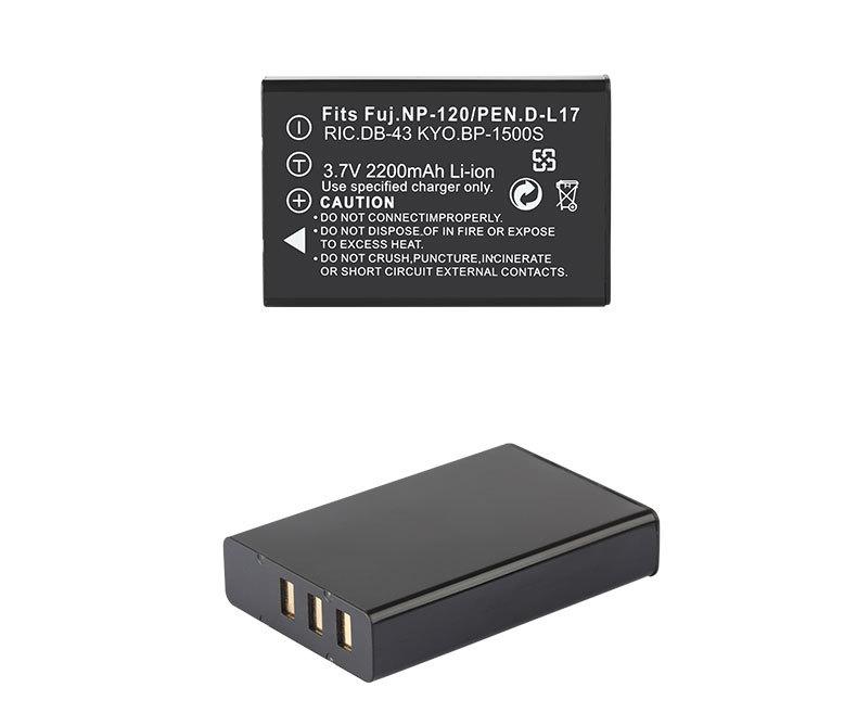 Dinto 1pc 2200mAh 3.7V NP-120 NP 120 NP120 FNP-120 FNP120 Battery for FUJIFILM F10 F11 ZOOM for BP-1500S D-LI7 DB-43 Batteries - ANKUX Tech Co., Ltd