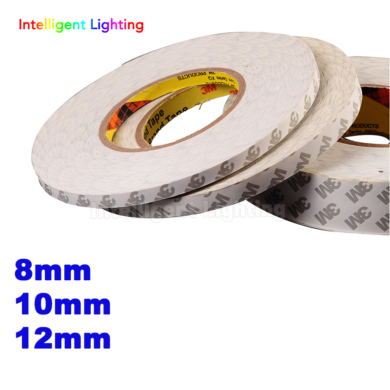 50M/Roll 8mm 10mm 12mm Double Sided Tape 3M Adhesive Tape for 3528 5050 ws2811 Led strips50M/Roll 8mm 10mm 12mm Double Sided Tape 3M Adhesive Tape for 3528 5050 ws2811 Led strips