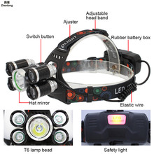 1*XML-T6 & 4*XPE LED Head Lamp 3500lm Headlamp 5leds Headlight Tube Torch LED Flashlightr+18650 Batteries USB Charging Highlight sitemap 33 xml