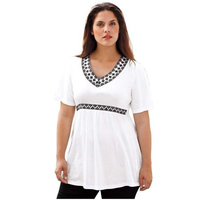 Summer Woman Fashion Tops Ladies Tee Shirts Casual Short Sleeve V Neck 4color T Shirt