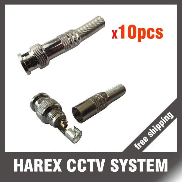10 шт. CCTV RG-59 BNC разъем для коаксиального кабеля