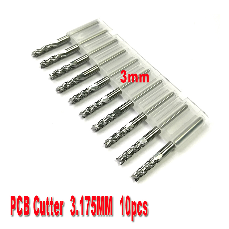 10pcs/lot 3.0mm Mini PCB Carbide Tools, CNC Cutting Bits, Millinging Cutters Kit for Engraving Milling Machine free shipping 10pcs 1 5mm pcb end mills carbide tools cnc cutting bits millinging cutters kit for engraving mill machine