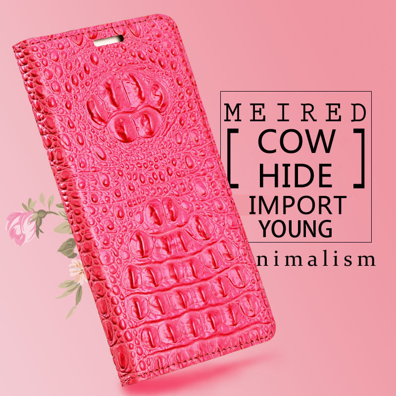 Marca do crocodilo padrão de volta caso de telefone Para Huawei P20 lite Genuine leather flip phone case caso de telefone fivela Magnética - 4