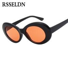 RSSELDN New Fashion Women Oval Sunglasses Red White Sun glasses Men Vintage Retro Female Male Glasses UV400 Cheap