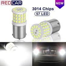 2 pces cerâmica led 1156 ba15s p21w led 1157 bay15d p21/5w lâmpadas led r5w 1200lm carro branco sinal de volta luzes freio 12v lâmpada automóvel