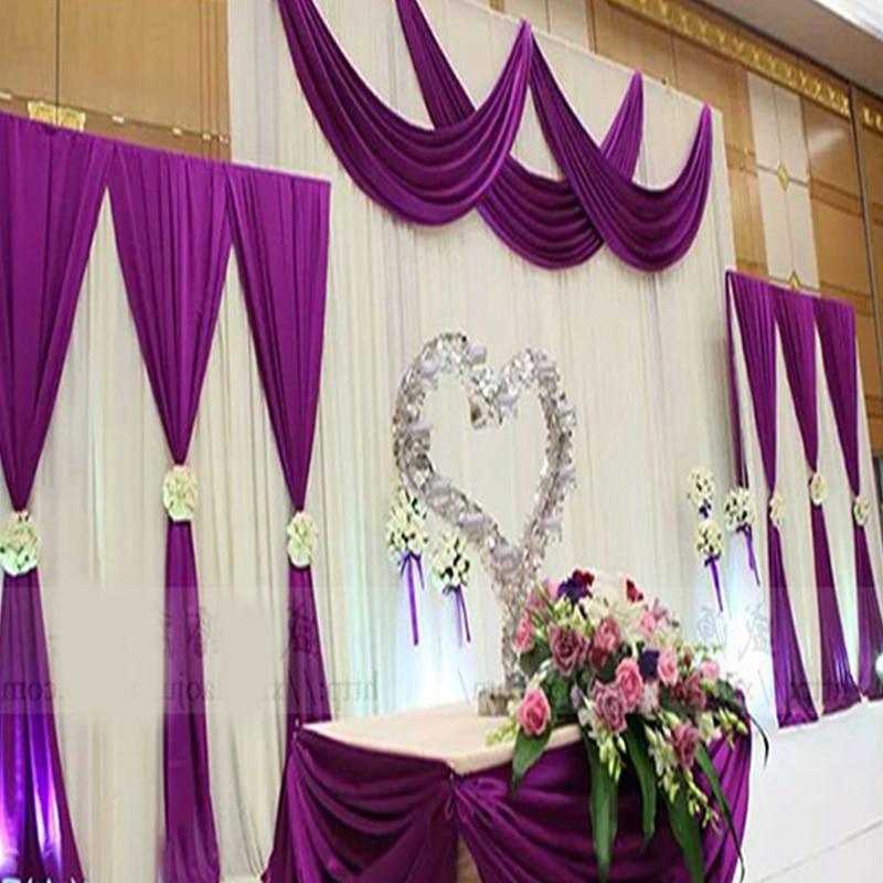 2017 nový příchod fialový svatební pozadí opona s lup svatební závěsy událost strana hotel svatební fáze pozadí dekorace