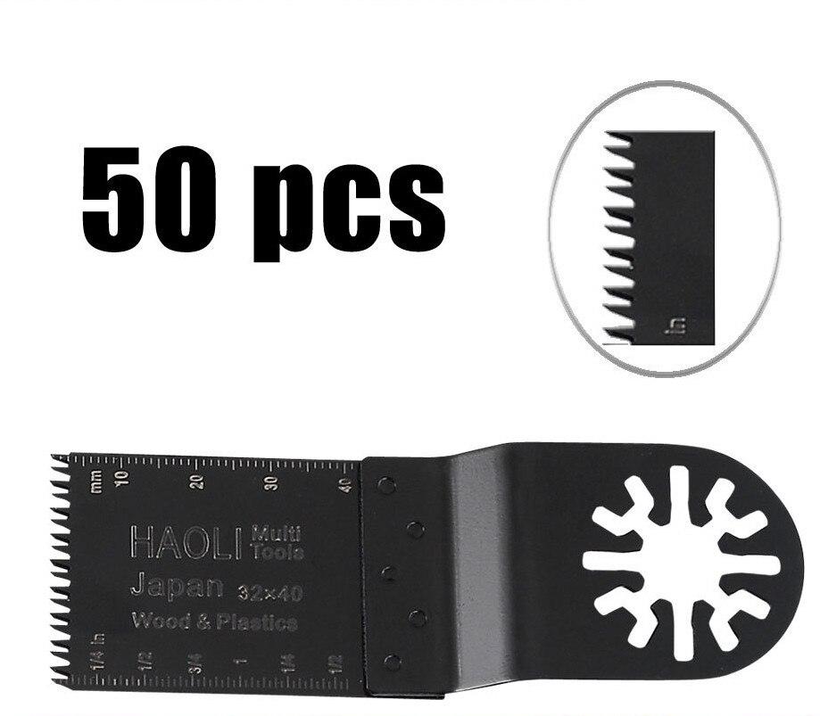 50 pièces 32mm précision Japon dents lames de scie à outil oscillant accessoires ajustement pour Multimaster outils électriques comme Fein, Dremel etc