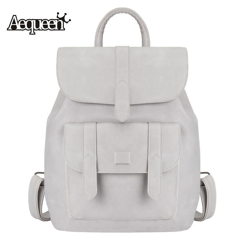 AEQUEEN 2017 New PU Leather Backpack Women Backpack For Teenage Girls Fashion Rucksack Students School Bags