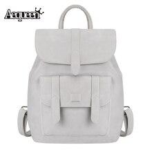 Aequeen Новинка 2017 года Кожа PU Рюкзак женщины рюкзак для подростков модная одежда для девочек рюкзак студентов Школьные ранцы