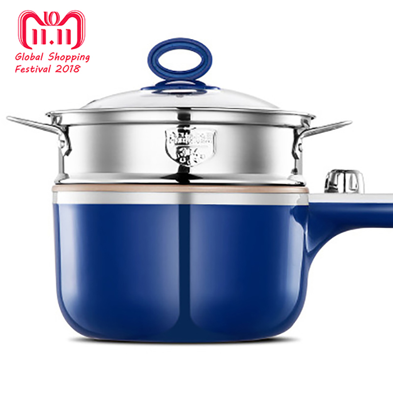 Multi-function Electric Cooker Steam Boil Fry Electric Skillet Student Dormitory Cooking Noodle Pot 220V mini electric skillet 110v volt multi function mini student dormitory rice cooker porridge cooking steamed egg electric cooker