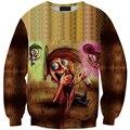 Смешно Пьяница Окрашенные толстовки 3D galaxy crewneck толстовка с капюшоном мужчины женщины пуловеры Мультфильм Мальчик Женские sportsuits