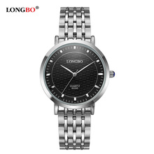 Fashion Brand LONGBO Watches Women Elegant Glamour Steel Bracelet Waterproof Quartz Wrist Watches Female montre femme 80095