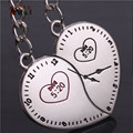 AMGJ Intimate Couple Close Heart Time 5:20 Clock Watch Keychain Lover Keyring Valentine's Birthday day Romantic Forever Key Fob