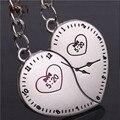 AMGJ Tempo 5:20 Relógio Relógio Casal Íntimo Perto Do Coração Chaveiro Chaveiro Amante Dos Namorados presente do dia de Aniversário Romântico Sempre Chave Fob