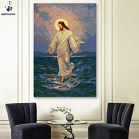DIY colorings pictures by numbers with colors Founder of Christianity Jesus picture drawing painting by numbers framed Home