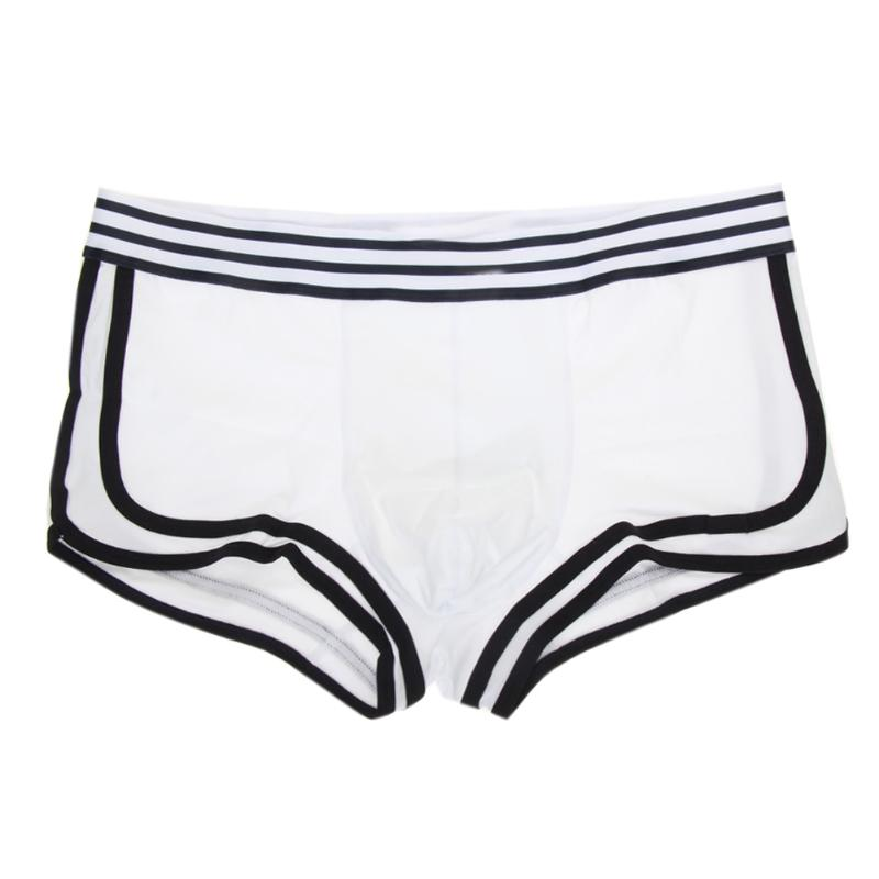 2018 Men's Sexy Soft Underwear Boxer Briefs Shorts Bulge Pouch Underpants Wholesale Comfortable Fit Men Swim Trunk