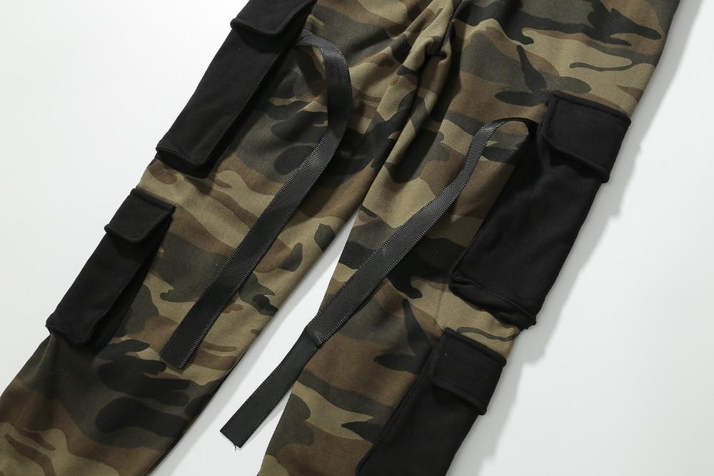 2018 Green Qualité Militaire Street Army Hop Haute Style High Joggeurs Cargo Pantalons Camouflage Hommes Camo Poches Hip Pantalon AArwpqU